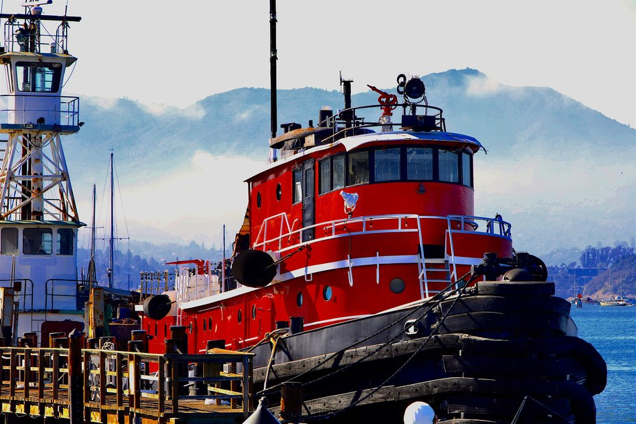 Retired from service, this Fire Boat located in the Bay Area near San Francisco.     inspired thi...
