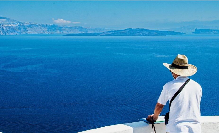 Just a beautiful view of the Santorini Caldera.