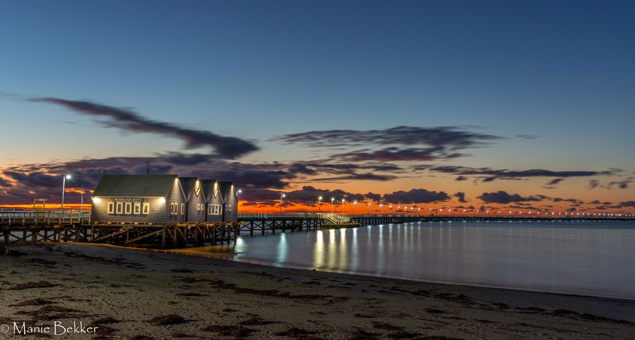 Busselton Jetty is the longest timber-piled jetty (pier) in the southern hemisphere at 1,841 metr...