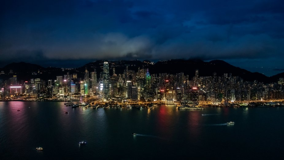 Hong Kong by night from Sky 100