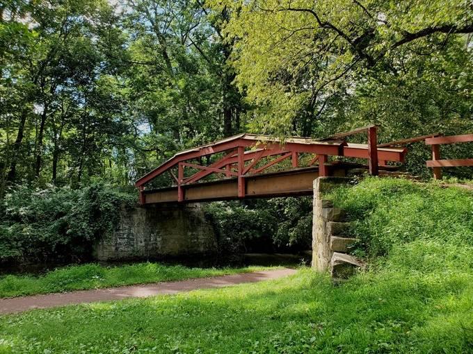 foot bridge, Washington's Crossing, Pa