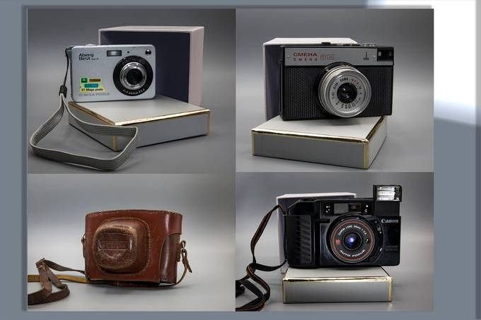 Set  of old cameras, a lot of memories there.