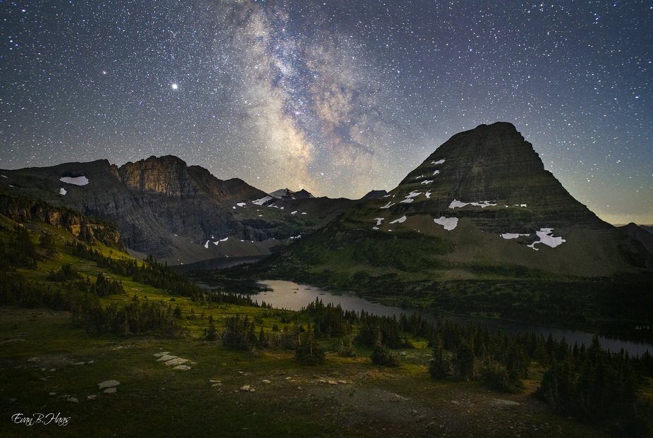 Captured this photo in Glacier National Park after quite a few failed attempts. This night turned...