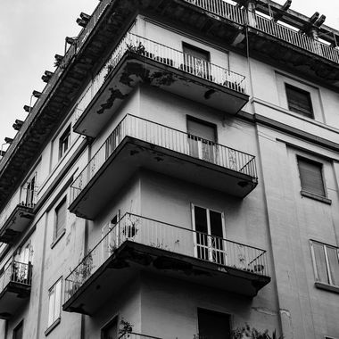 Flat balconies in Salerno