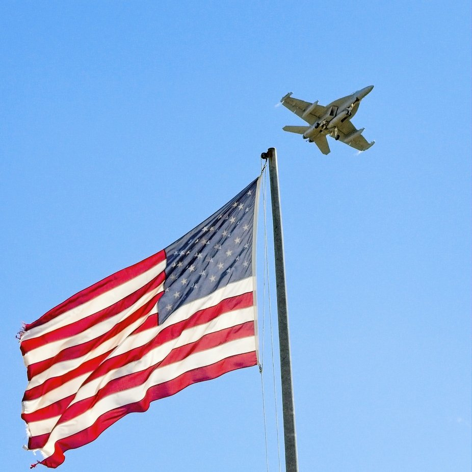 A jet flies over on it's landing pattern at the Whidbey Island Navel Station in Washington.