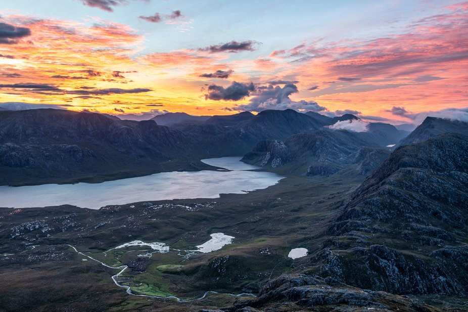 A sunrise in the Scottish Highlands