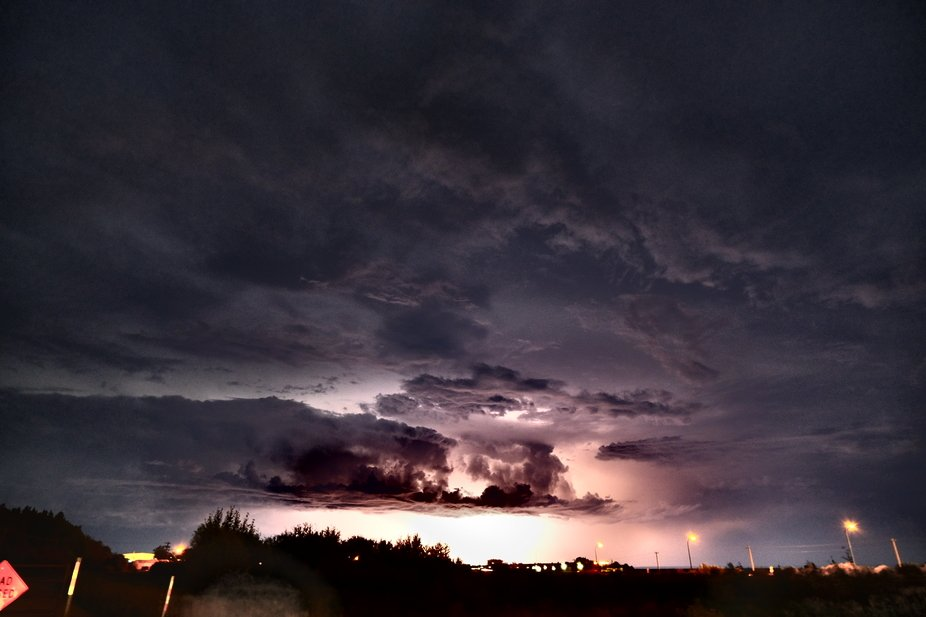 The sky was lit for what seems like hours as this dry storm raged through a mid august night