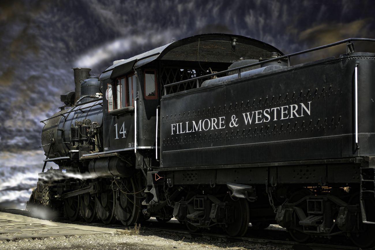 #14 Fillmore & Western Steam Train in Fillmore California.