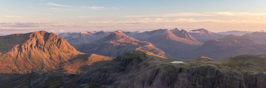 A Pano of the Torridon Range in Scotland