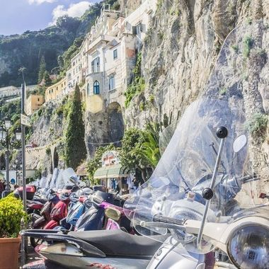 A row of Vespa's in Amalfi