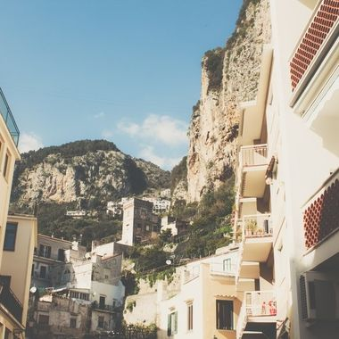 Looking up in Capri
