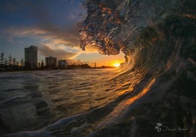 Sunset Wave on the Gold Coast, Australia
