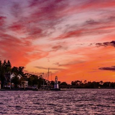 Port of Ranier at Sunset