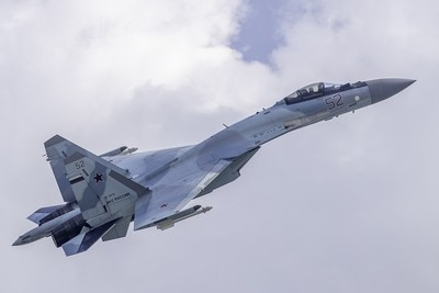 Su-35 in the sky of Moscow