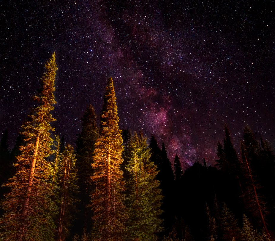 A little bit of astrophotography while camping on Mt. Hood