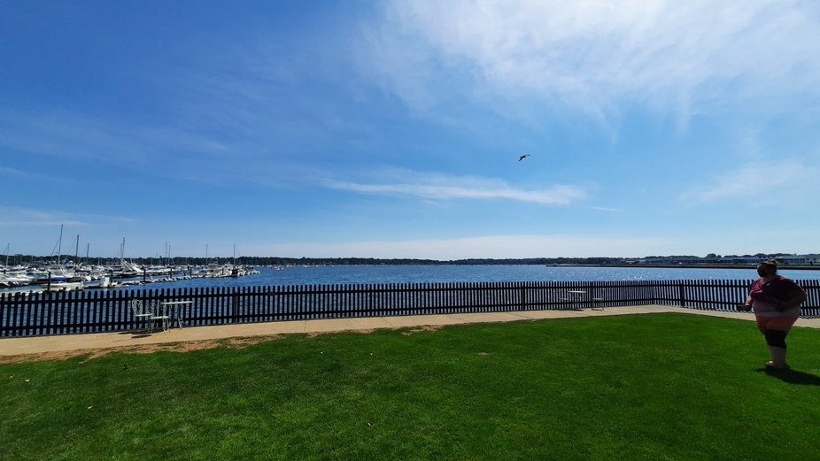 the view from The house of the Seven Gables