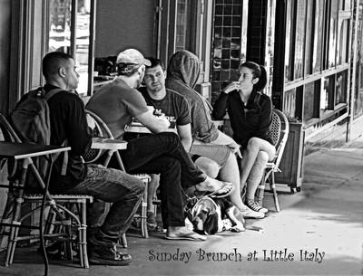 Sunday Brunch B-W