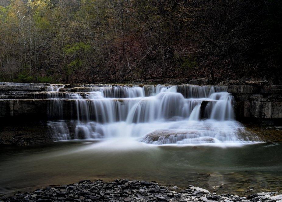 Lower falls at taughonnock state park
