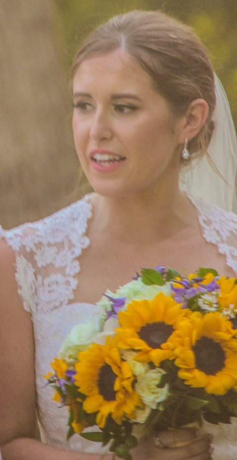 A moment in time for a bride