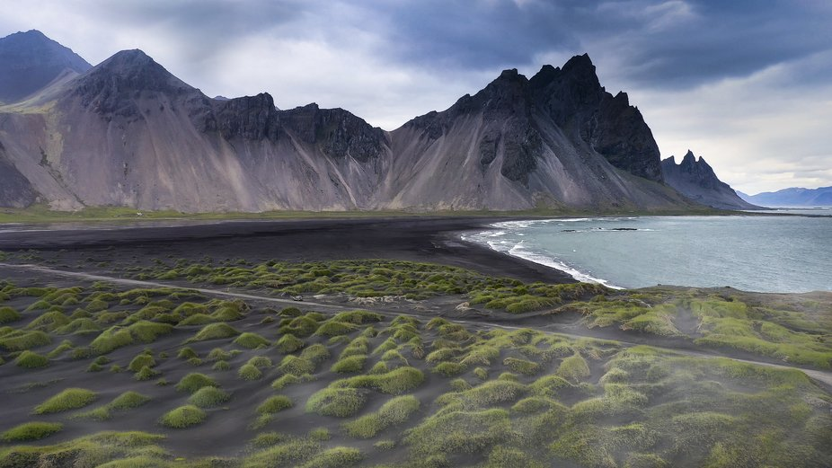 Rainy and cold day in July...the weather is ever changing in Iceland. Taken with my drone.