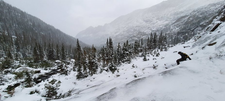 Early September snow in the Rockies.
