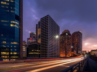 Cahill expressway Blue hour