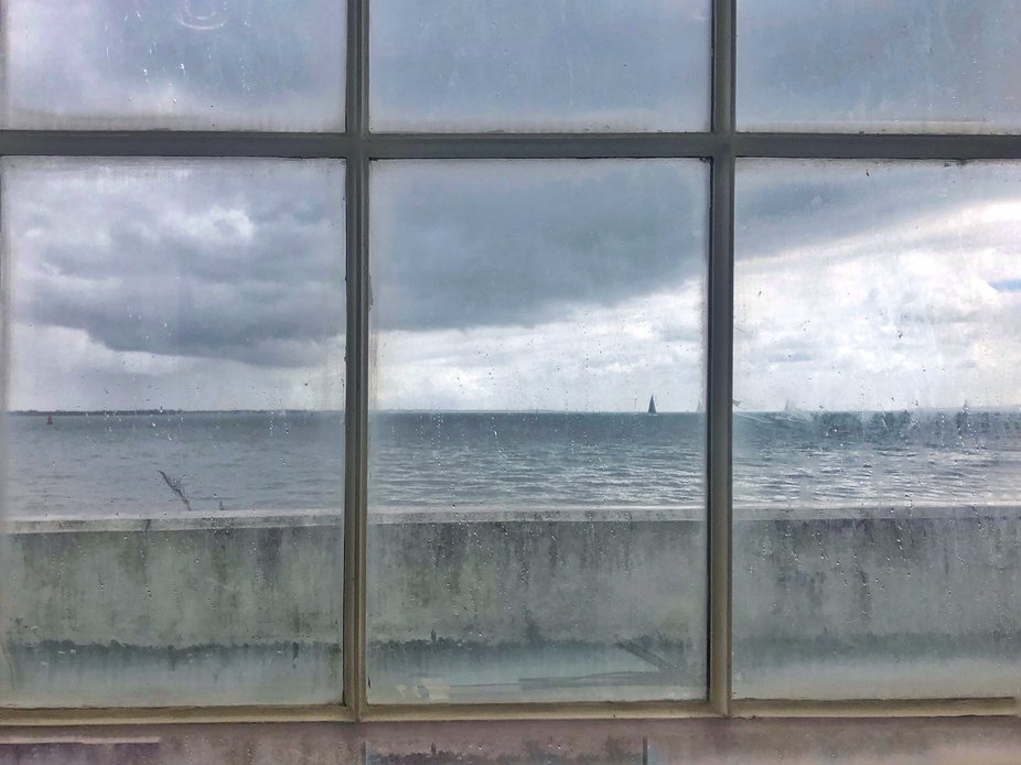 Solent Blue ~ The sea is more than we see, so was the entire blue morning, replaced by a somber,...