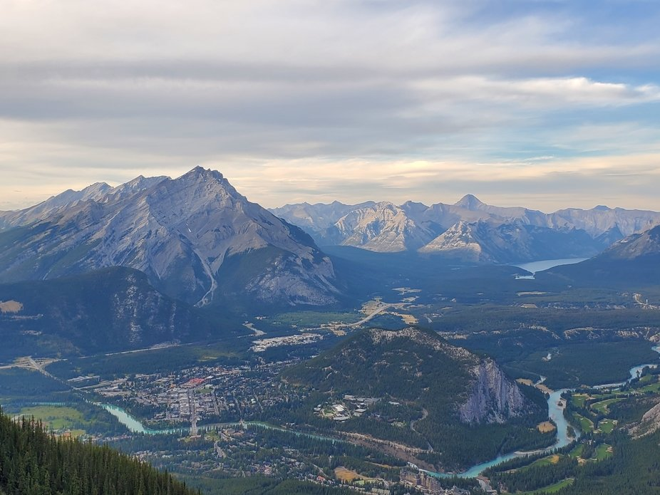 I took this from the Banff Gondola top deck.