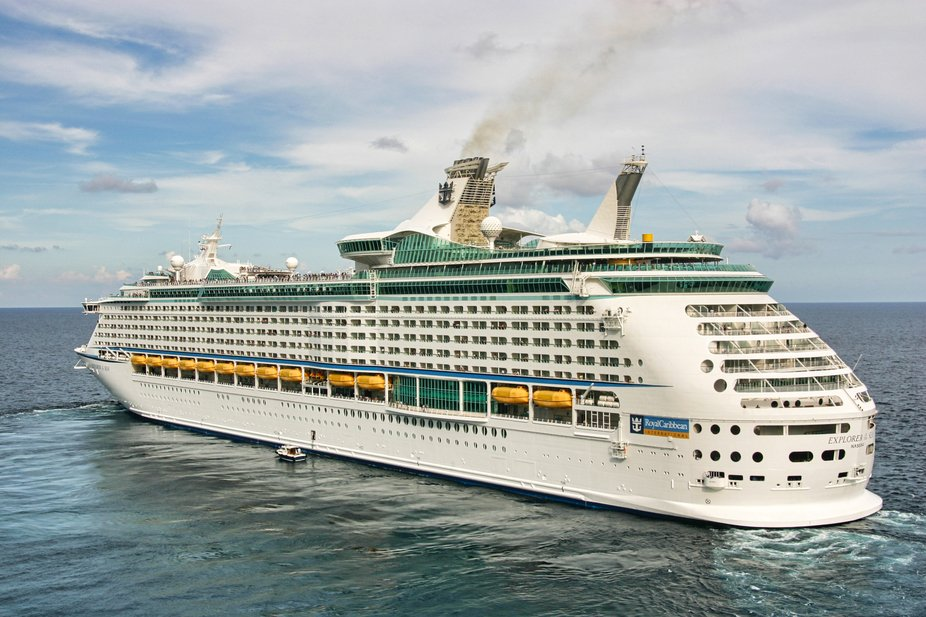 Royal Caribbean's Explorer of the Seas departing Costa Maya in Mexico.