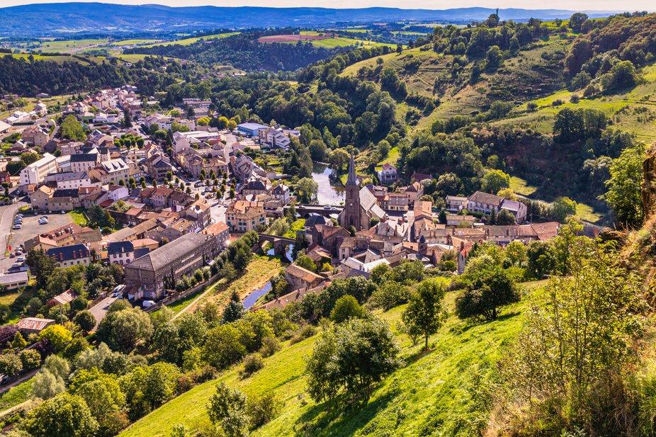 Panoramic view of Saint Flour village