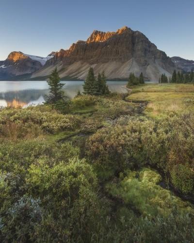 Sunrise on Bow Lake