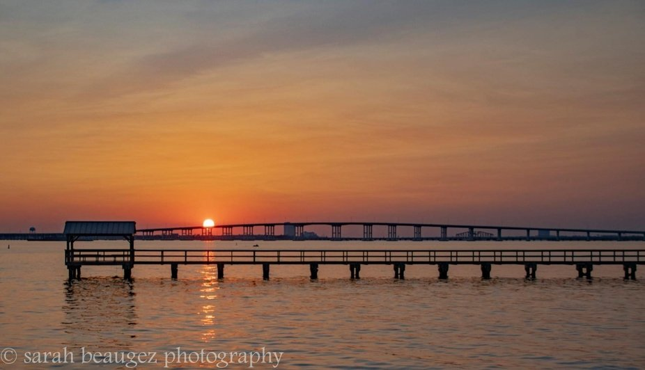 My sister, Leyte and I, went to the Ocean Springs Harbor Bridge to catch the sun as it dropped in...