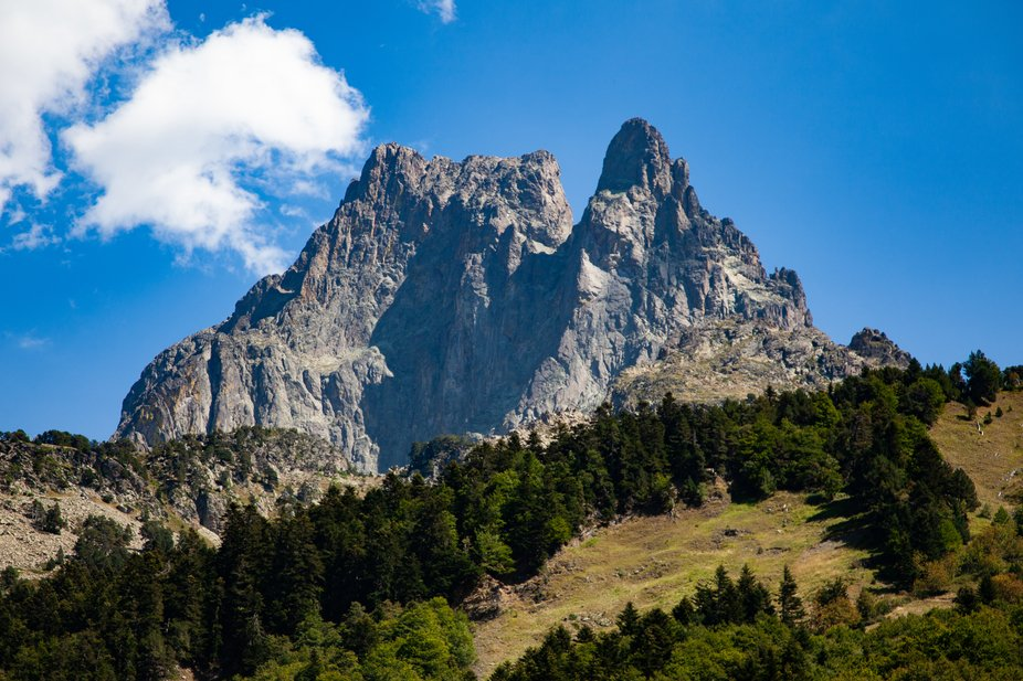 Picture taken in Pyrenees mountains nearby Pic du Midi d'Ossau, France