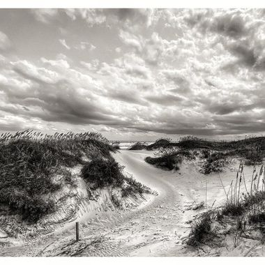 Dunes at OBX #bnw #bnwphotography #bnw_greatshots #bnw_zone #dunes  #sanddunes #stormyclouds #blackandwhitephotography #bnw_planet #bnw_magazine #bnw_society #bw_photooftheday #bnw_photography #flyingthroughthecountry #obx #obxdunes