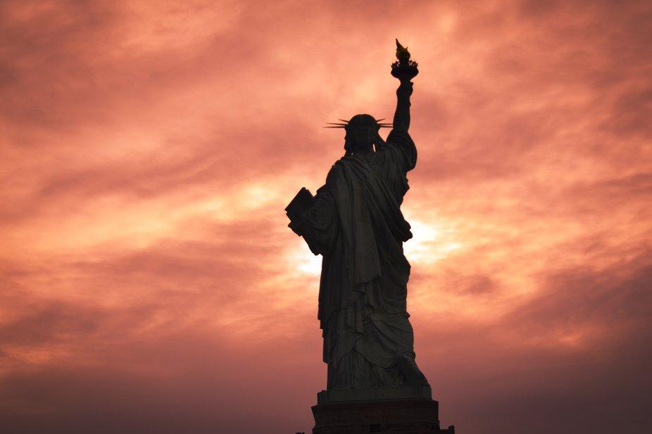 Statue of Liberty, Sunset View