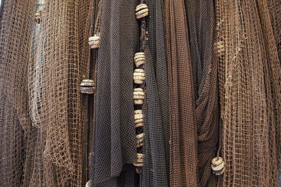Drying nets, Newfoundland, lglynch,