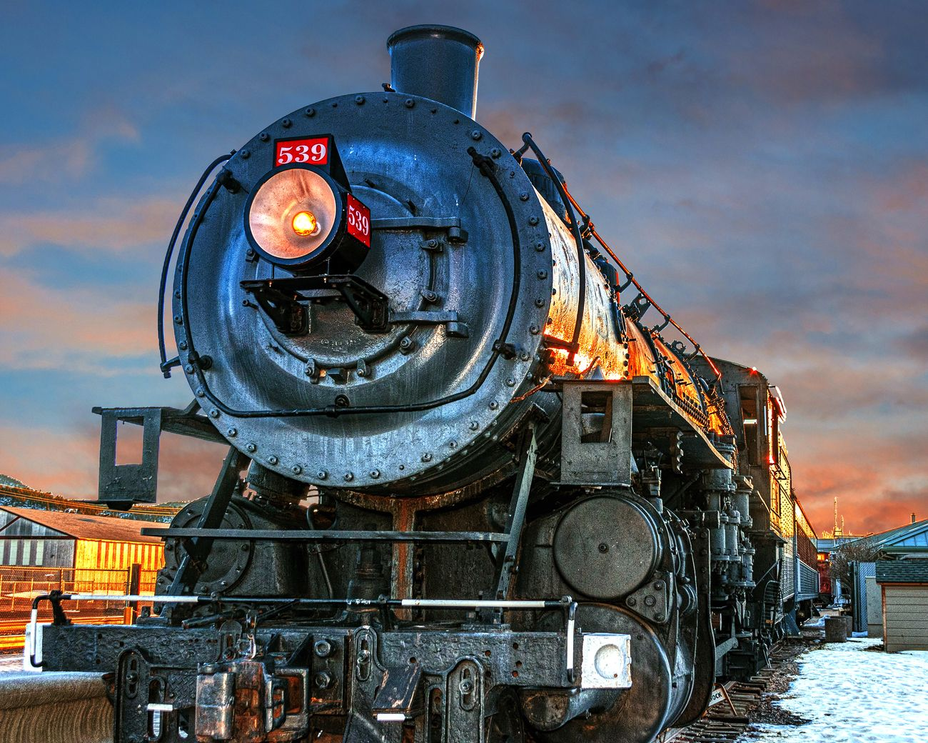 Steam Train Engine #539 for the Grand Canyon Train in Williams Arizona