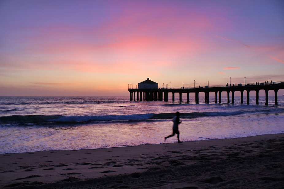 Beautiful sunset at Manhattan Beach