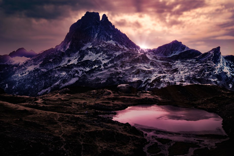 Picture taken in Pyrenees mountains, nearby Pic du Midi d'Ossau, France