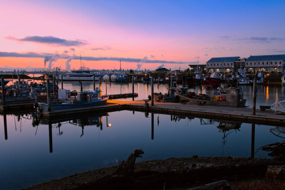 Early morning at the Anacortes, Washington docks as the fisherman are getting prepared to leave...