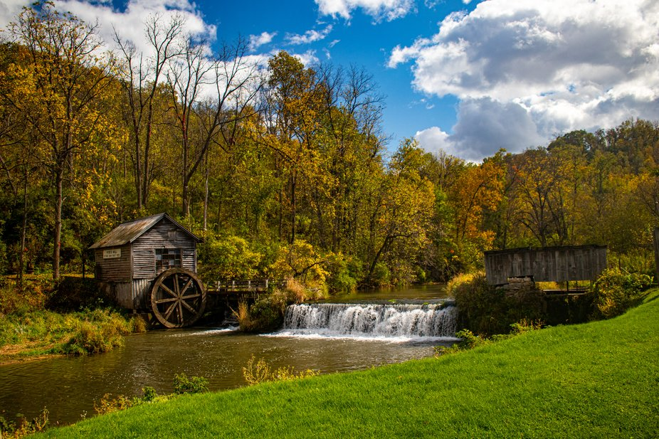Hyde's Mill was built in 1850 with a stone dam and wooden water wheel.
