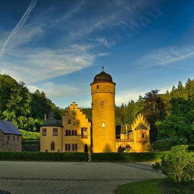 Moated castle in Mespelbrunn, Germany