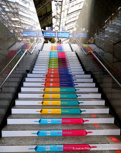 Some stairs in Cologne Station