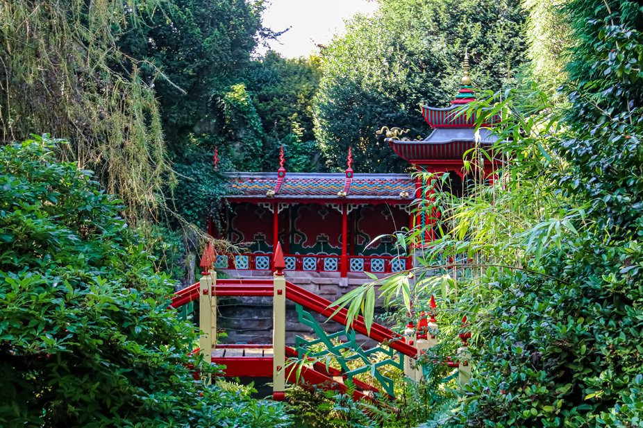 Vibrant colours in the Chinese garden