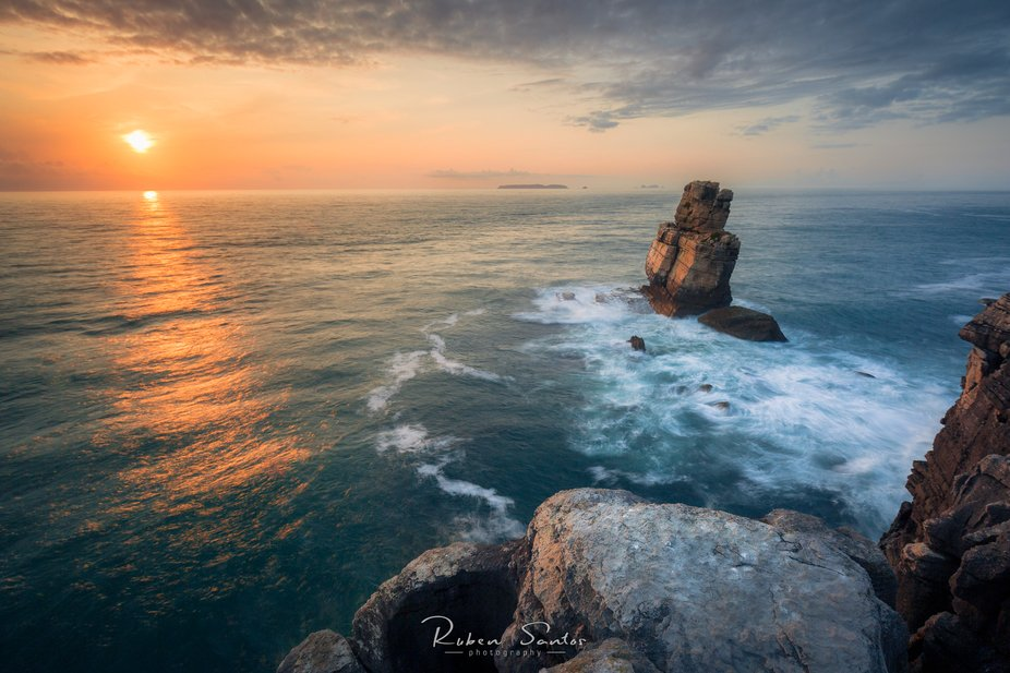 Locally known as the Nau dos Corvos, Cabo Carvoeiro receives the last rays of light in this last ...