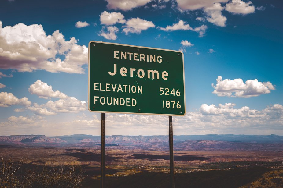You are now entering Jerome...