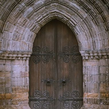 A door of a church in Dunblane
