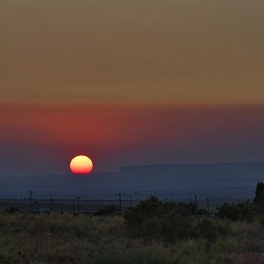 Sunset somewhere in the Navajo Reservation