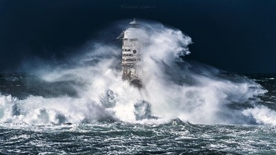 Storm in Mangiabarche lighthouse