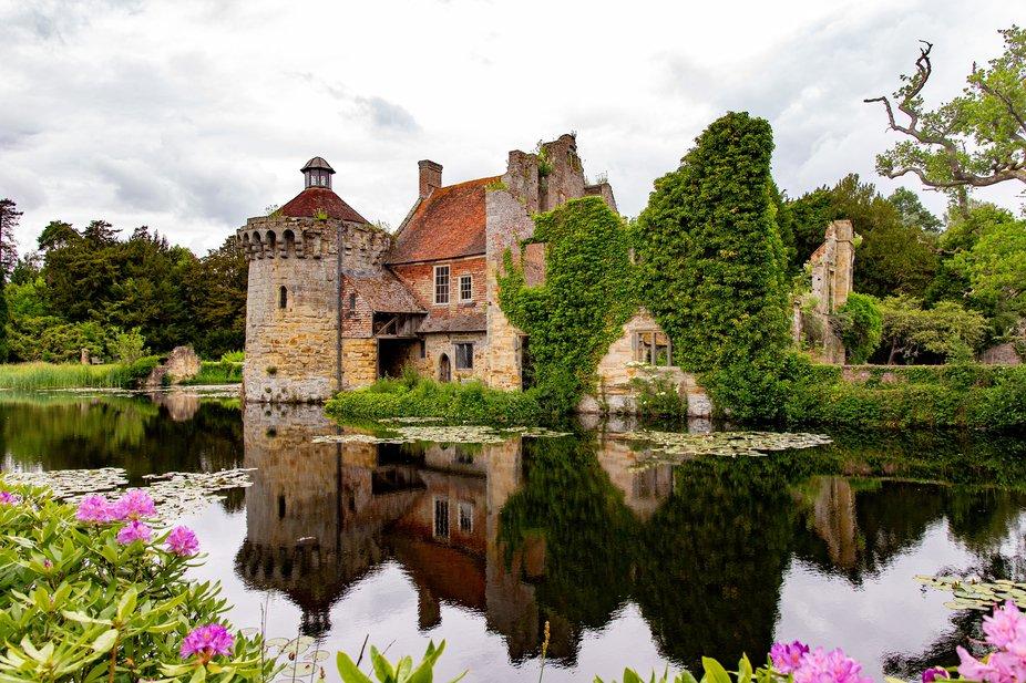 Landscape of National Trusts Scotney Castle in Kent, UK